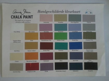 kleurenkaart Annie Sloan Chalkpaint